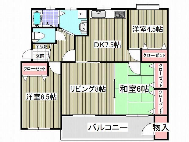 新原町田グリーンハイツ-間取図